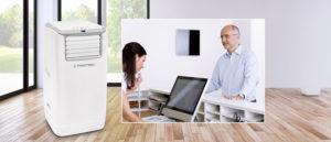 Clim mobile puissant et compact pour bureau et maison TROTEC PAC 4100 E