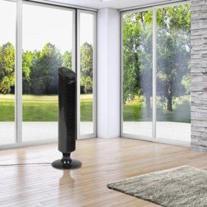 Ventilateur sur pied Jago TVETL01 Schwarz silencieux