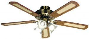 Luminaire ventilateur plafond réversible Farelek Baleares