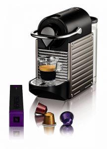 Machine à café Krups Pixie Titane YY1201FD capsules Nespresso
