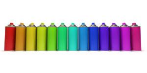 Bombe peinture palette couleurs