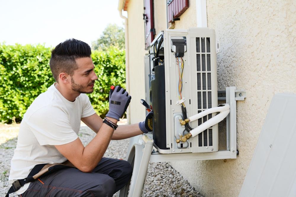 Installation extérieure climatisation